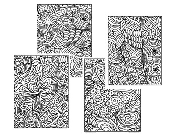 Coloring Pages Fun Doodles Set 1