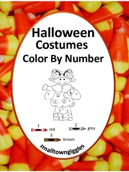 Halloween Color by Number Coloring Pages NO PREP Worksheet