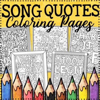 Song Quotes Coloring Pages - 20 Fun, Creative Designs!