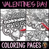 Coloring Pages for Adults, Teens: Valentine's Day