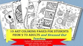 Coloring Pages for Children to Adults- Stress Relief/Art/D
