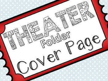 Coloring Theater Folder Cover Page