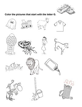 G - Coloring Words That Start With G - Free