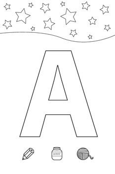 Coloring the Russian alphabet for preschoolers and kinderg