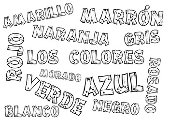 Learn the colors in Spanish (color the colors)