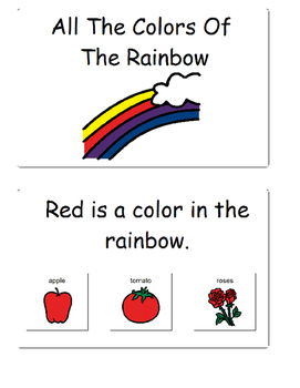 Colors: All About The Colors in a Rainbow (Adapted, Autism