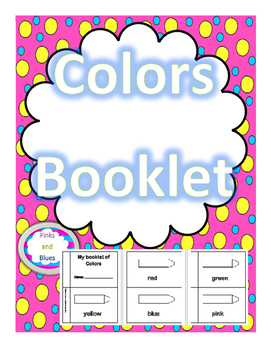 Colors Booklet to color