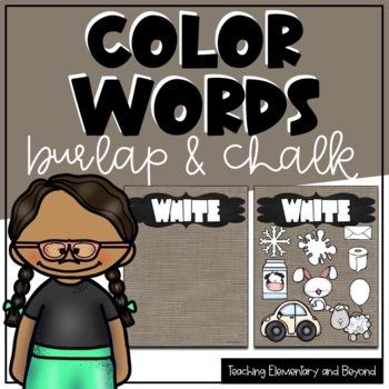 Colors {Burlap & Chalk Background}