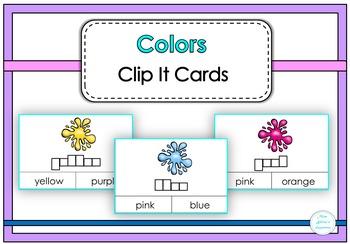 Colors Clip It Cards