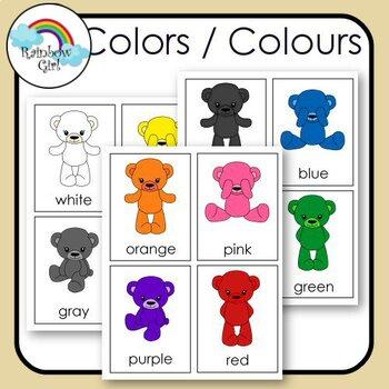 Colors / Colours Cards
