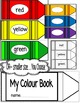Colors/Colours-Word Wall Crayon Cards and Student Booklet-