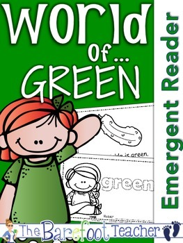 Colors {GREEN} Emergent Reader & Class Poster FREEBIE