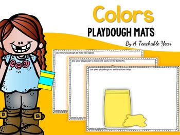 Colors Playdough Mats