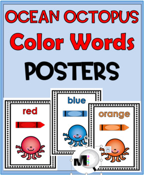Color Words Posters – {Beach Theme - Ocean Theme} - Ocean Animals