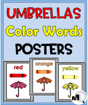 Color Words Posters {Umbrella Theme}