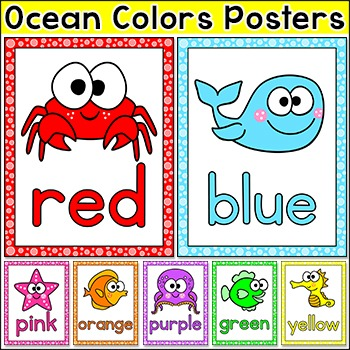 Ocean Theme Colors Posters - Under the Sea Theme