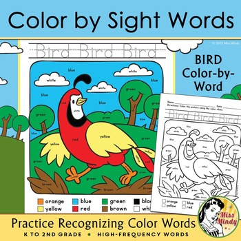 Colors Practice: Sight Words Practice with Color-by-Word A