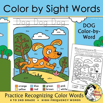 Colors Practice: Sight Words Practice with Color-by-Word P