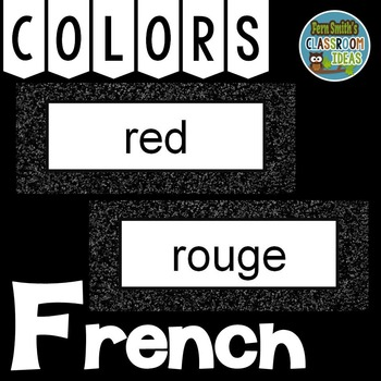 French Color Words Pocket Chart Cards and Worksheets Franç