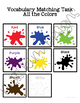Colors Vocabulary Folder Game for students with Autism