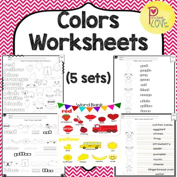 Colors Worksheet NEW (5 sets)