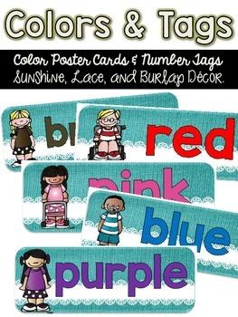 Colors and Tags {Sunshine, Lace, & Burlap Decor.}