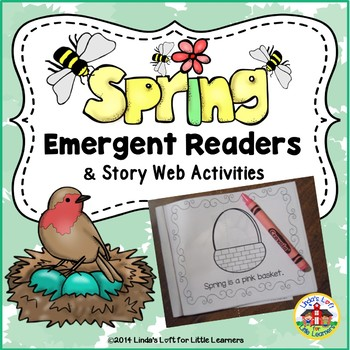 Spring Emergent Readers and Story Web Activities