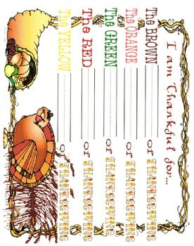 Colors of Thanksgiving-Color Poem