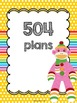Colorful Sock Monkey Binder Pages *editable*