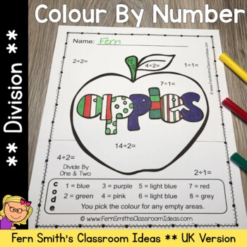 Colour By Numbers Apples Division UK Version