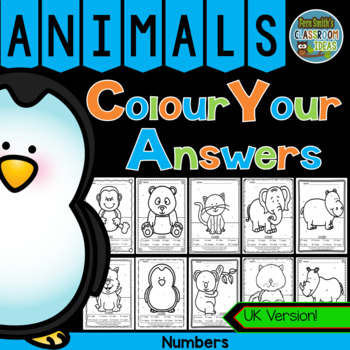 Colour By Numbers Awesome Animals Know Your Numbers UK Version