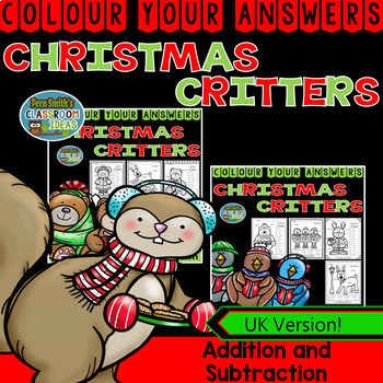 Colour By Numbers Christmas Two Digit by Two Digit Additio