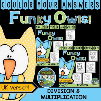 Colour By Numbers Funky Owls Multiplication and Division B