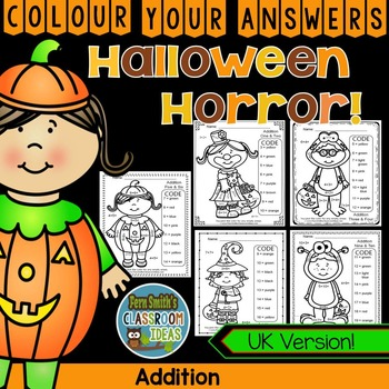Colour By Numbers Halloween Costumed Kids Addition