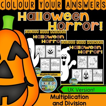 Colour By Numbers Halloween Fun Multiplication and Divisio