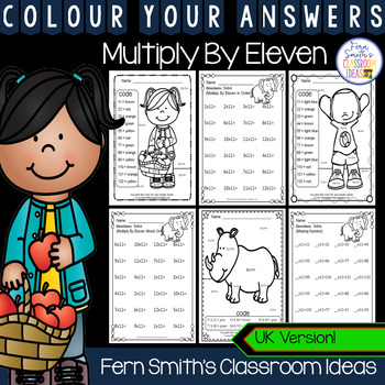 Colour By Numbers Multiply By Eleven Colour By Code UK Version