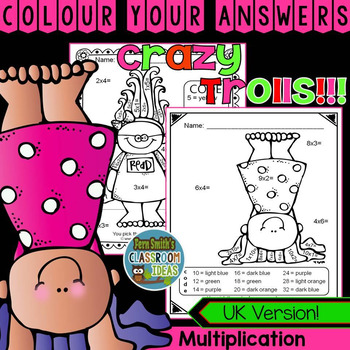 Colour By Numbers Trolls Multiplication UK Version