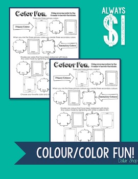 Colour/Color Fun Worksheet