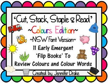 Colour & Colour Words 'Cut, Stack, Staple, Read' Flip Book