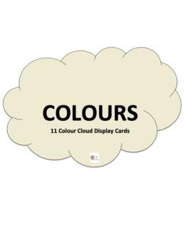 Colour Flash Cards - Clouds