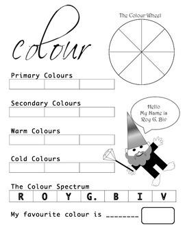 Colour Wheel Assessment Grade 2