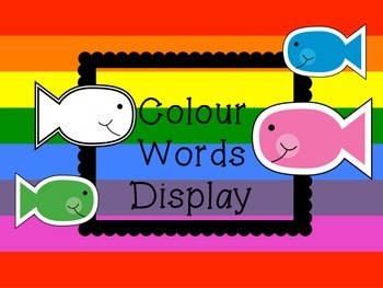 Colour Words display