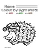 Colour by Sight Word: Primer Winter Edition