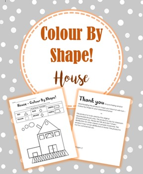 Colour by shape (House)