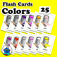 ESL Colors Flash Cards. Red, yellow, green to gold, silver