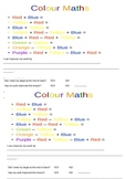 Colour maths starter and plenary in one