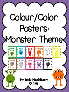 Colour/Color Posters: Monster Theme