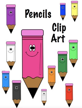Coloured Pencil Clip Art