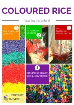 Coloured Rice Visual Recipe