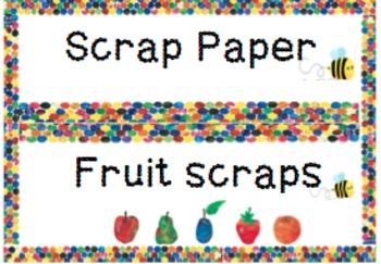 Colourful Classroom flashcards- fruits scrap, scrap paper